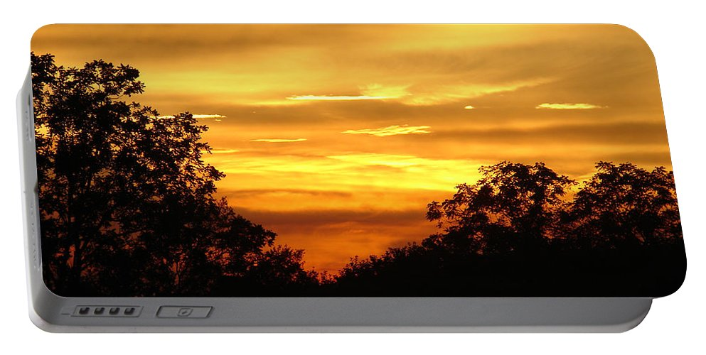 Evening Portable Battery Charger featuring the photograph Sunset by Heidi Poulin