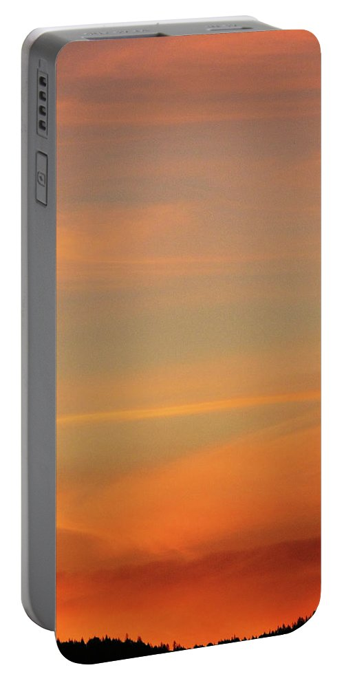 Blue Portable Battery Charger featuring the photograph Sunset Off Of Kings Hwy by Teri Schuster