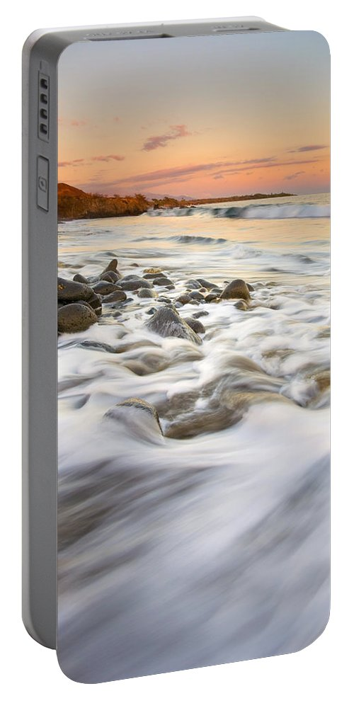 Beach Portable Battery Charger featuring the photograph Sunset Tides by Mike Dawson