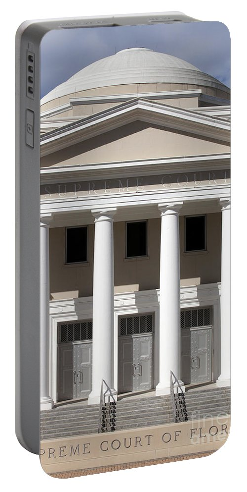 Supreme Court Portable Battery Charger featuring the photograph Supreme Courthouse In Tallahassee Florida by Anthony Totah