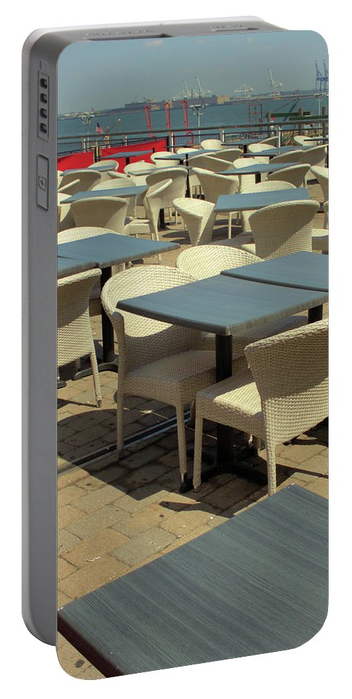 New York City Portable Battery Charger featuring the photograph Tables by Robert McCulloch