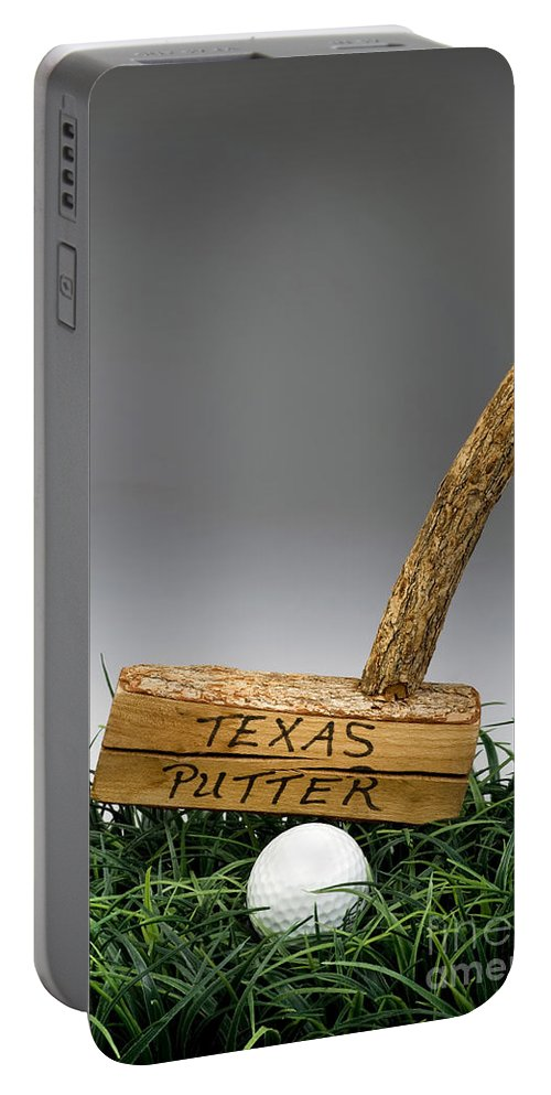 Texas Portable Battery Charger featuring the photograph Texas Golf Putter. by W Scott McGill