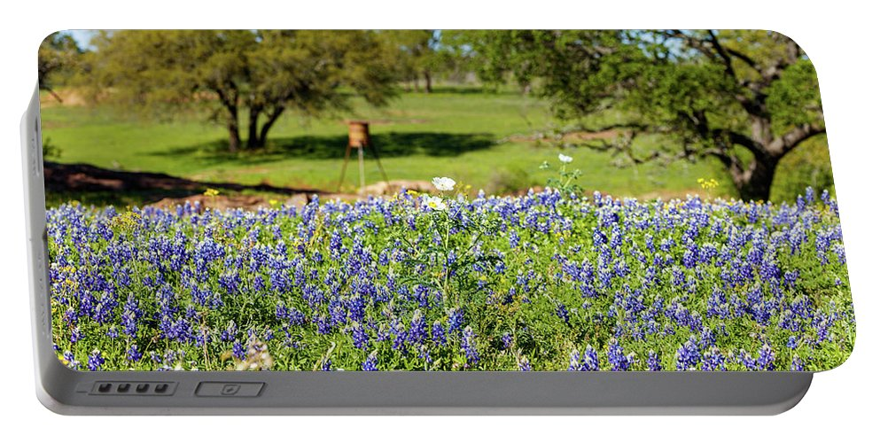 Austin Portable Battery Charger featuring the photograph Texas Wildflowers by Raul Rodriguez