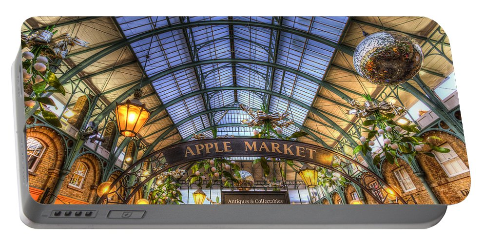Covent Garden Portable Battery Charger featuring the photograph The Apple Market Covent Garden London by David Pyatt