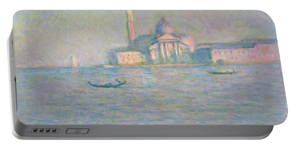 Claude Monet Portable Battery Charger featuring the painting The Church Of San Giorgio Maggiore by Claude Monet