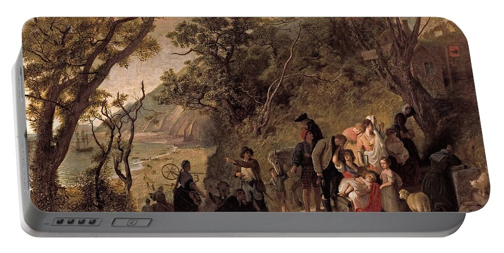 Joseph Severn Portable Battery Charger featuring the painting The Deserted Village  by Joseph Severn