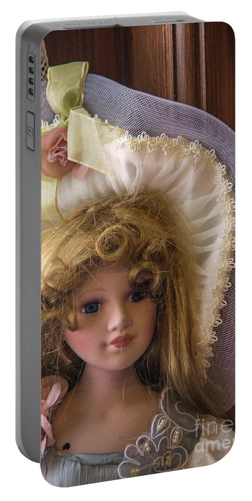 Doll Portable Battery Charger featuring the photograph The Doll by Carolyn Fox