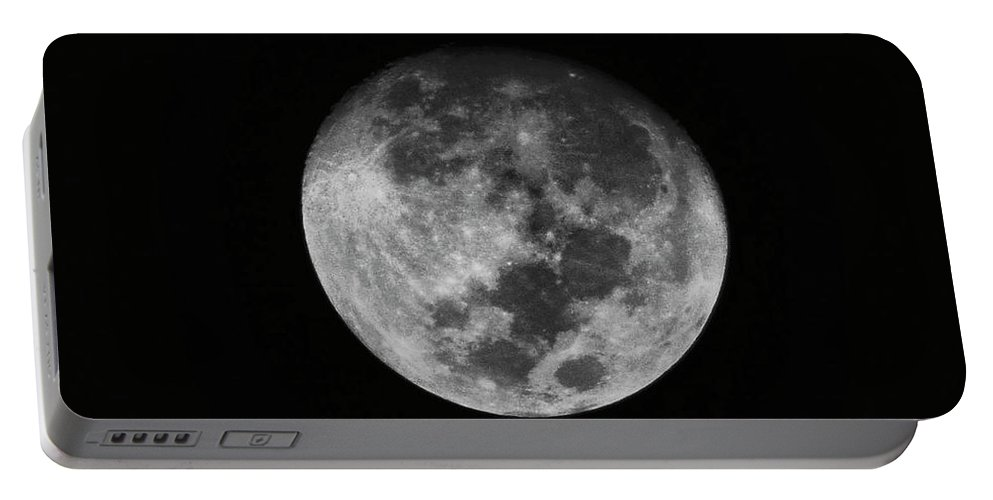 The Moon Portable Battery Charger featuring the photograph The Moon - by Totto Ponce