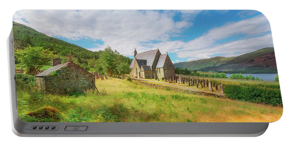Ballichulish Church Portable Battery Charger featuring the photograph The Old Highland Church by Roy McPeak