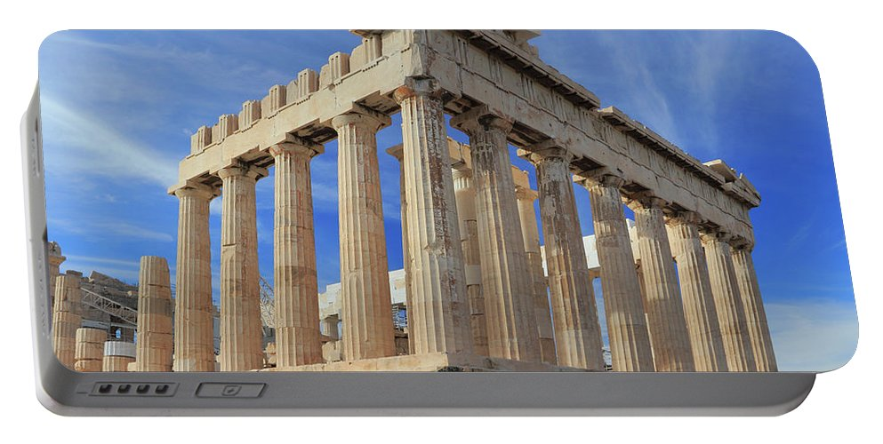 Acropolis Portable Battery Charger featuring the photograph The Parthenon Acropolis Athens Greece by Ivan Pendjakov