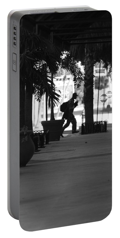 Street Scene Portable Battery Charger featuring the photograph The Post Man by Rob Hans