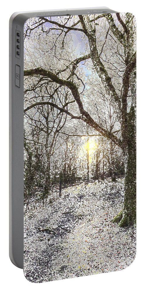 Forest Portable Battery Charger featuring the photograph The Snow Forest Art by David Pyatt