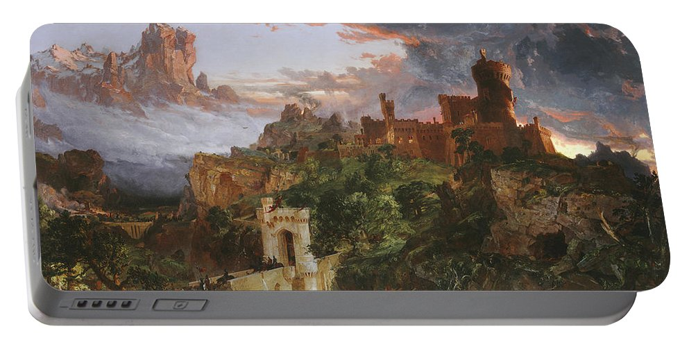 Jasper Francis Cropsey Portable Battery Charger featuring the painting The Spirit Of War by Jasper Francis Cropsey
