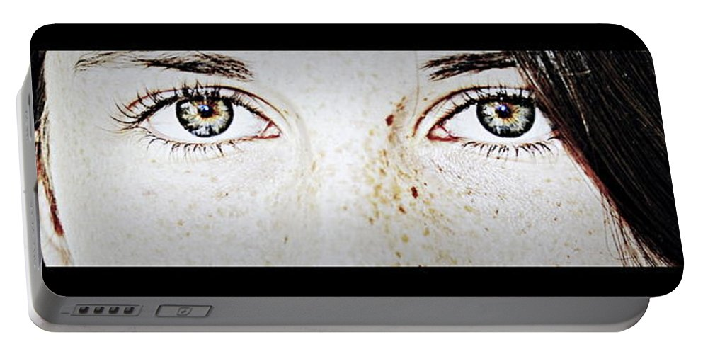 Girl Portable Battery Charger featuring the photograph Girl With Beautiful Eyes by Marysue Ryan