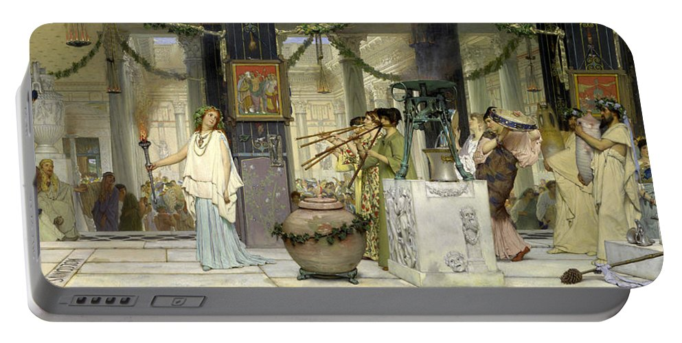 Dutch Painter Portable Battery Charger featuring the painting The Vintage Festival by Lawrence Alma-Tadema