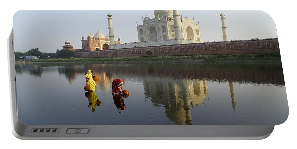 Taj Mahal Portable Battery Charger featuring the photograph Timeless Taj Mahal by Michele Burgess