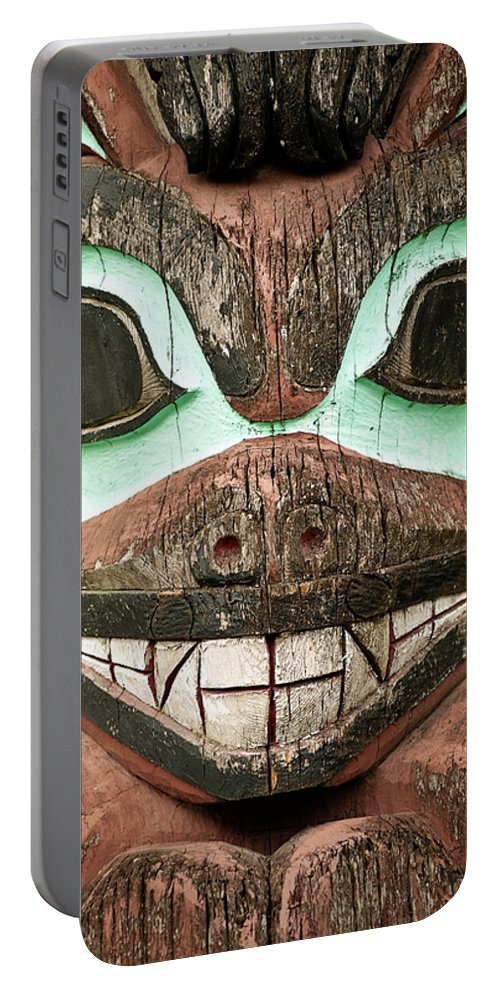 Alaska Portable Battery Charger featuring the photograph Totem Pole by John Greim