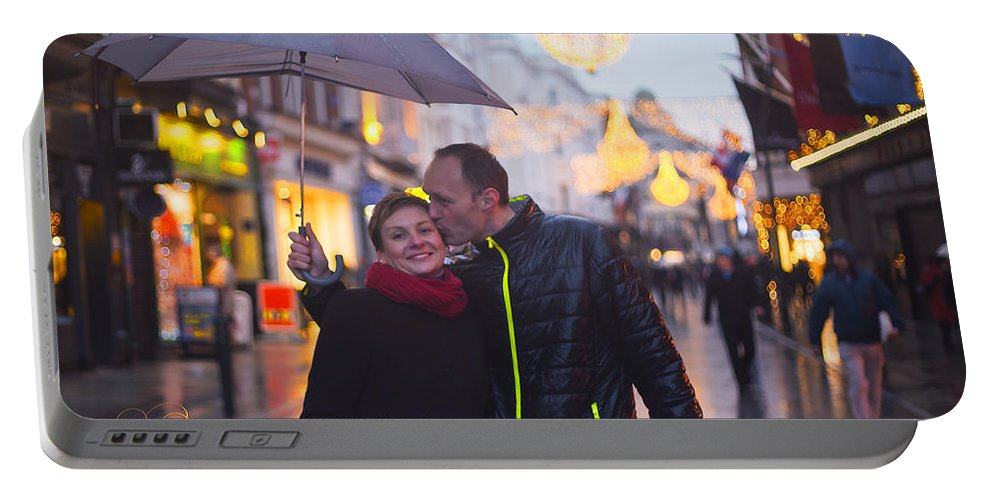 Engagement Portable Battery Charger featuring the photograph Ula And Wojtek Engagement 12 by Alex Art and Photo