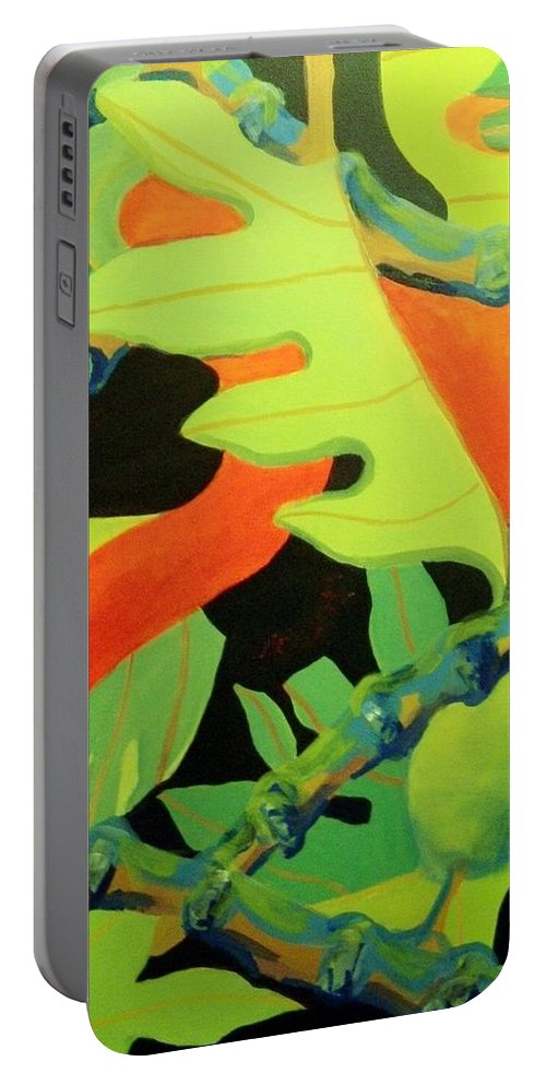 Hawaiian Art Portable Battery Charger featuring the painting Ulu 1 by Jamie Laniakea Clark
