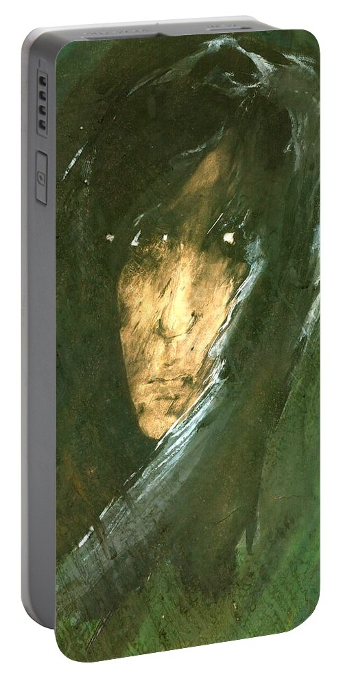 Energy Portable Battery Charger featuring the painting Unknow by Wojtek Kowalski