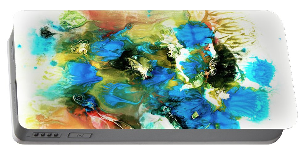 Aquarelle Portable Battery Charger featuring the painting Tornado by Jana Lulovska