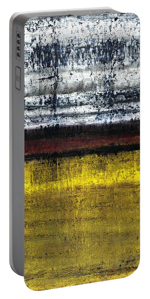 Yellow Portable Battery Charger featuring the painting Untitled No. 18 by Julie Niemela