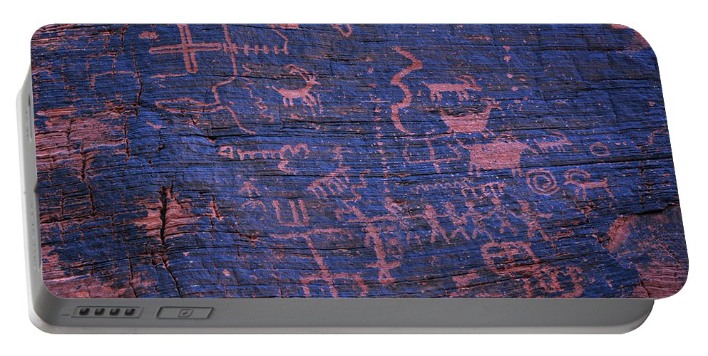 Valley Of Fire State Park Portable Battery Charger featuring the photograph Valley Of Fire Petroglyphs by Kyle Hanson