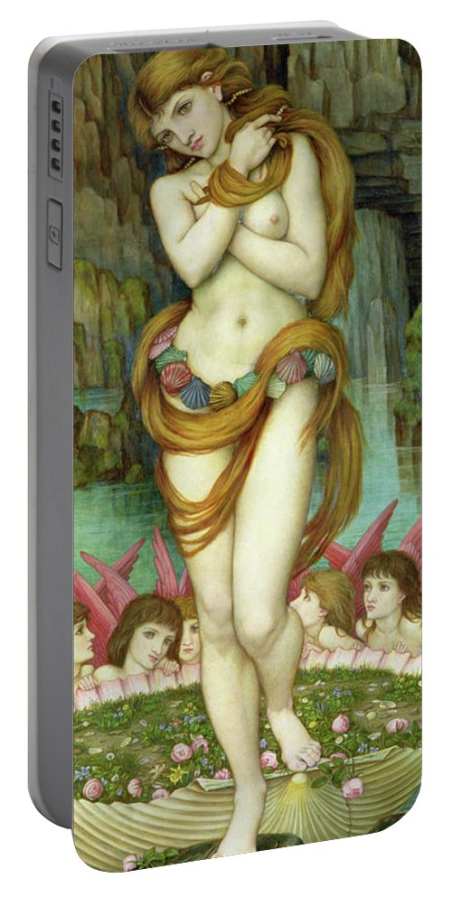 Venus Portable Battery Charger featuring the painting Venus by John Roddam Spencer Stanhope