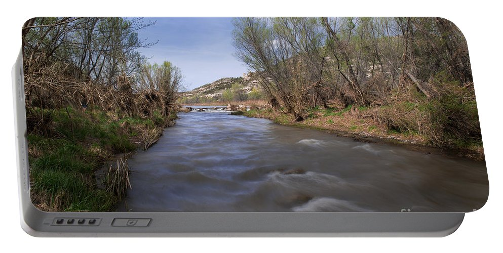 Verde River Portable Battery Charger featuring the photograph Verde River by Yefim Bam