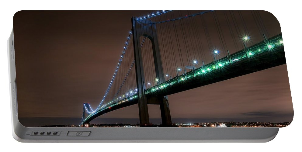 America Portable Battery Charger featuring the photograph Verrazano-narrows Bridge by Svetlana Sewell