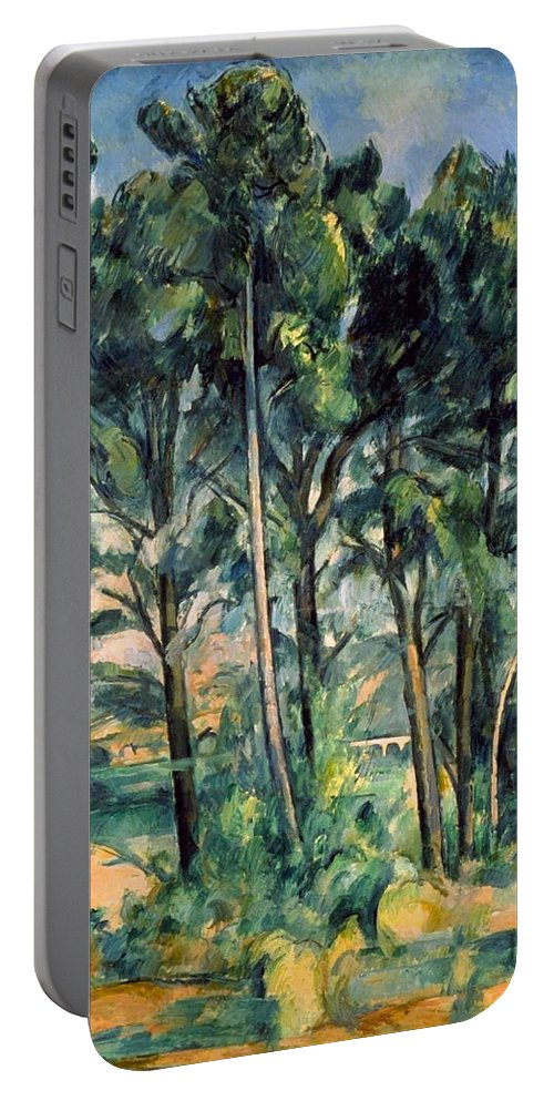 Architectural Portable Battery Charger featuring the painting Viaduct by Paul Cezanne