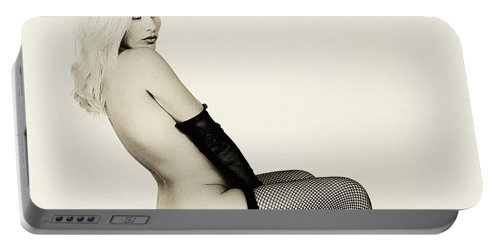 Clay Portable Battery Charger featuring the photograph Vintage Pinup Glamour by Clayton Bruster