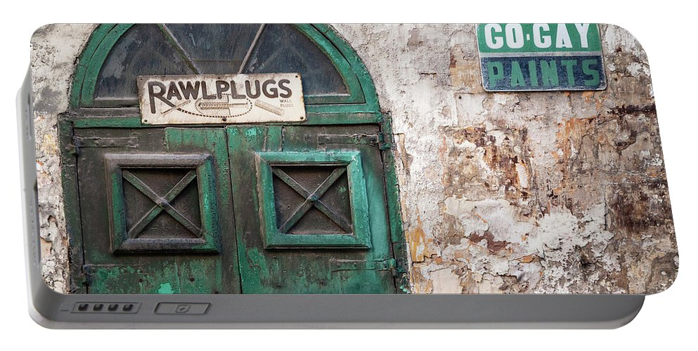 Vintage Retro Design In La Valletta Old Town Street Malta Portable Battery Charger For Sale By Jm Travel Photography