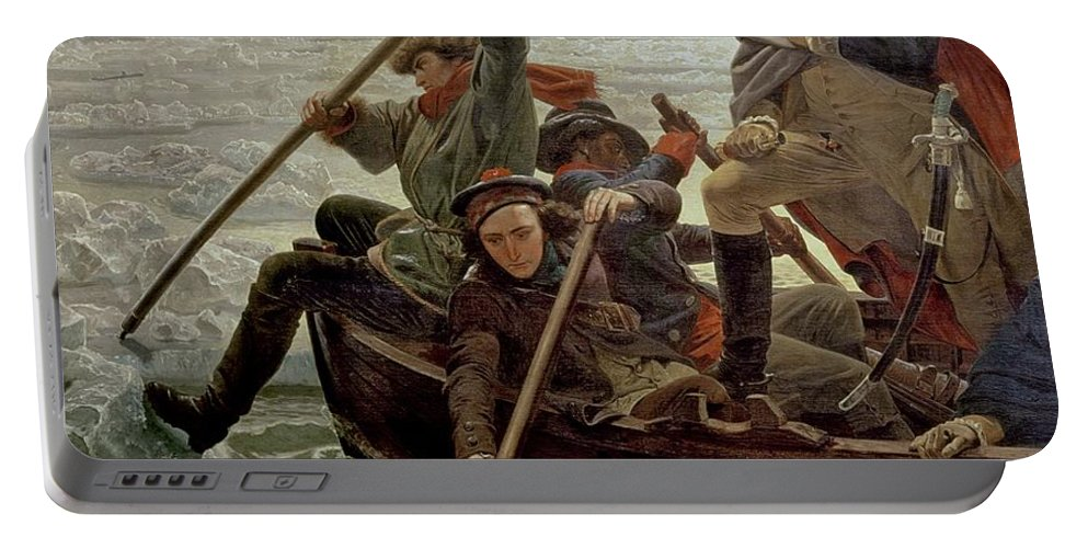 Washington Crossing The Delaware River Portable Battery Charger featuring the painting Washington Crossing The Delaware River by Emanuel Gottlieb Leutze