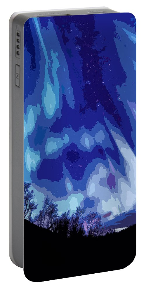 Watcher Of The Skies Portable Battery Charger featuring the painting Watcher Of The Skies by Andrea Mazzocchetti