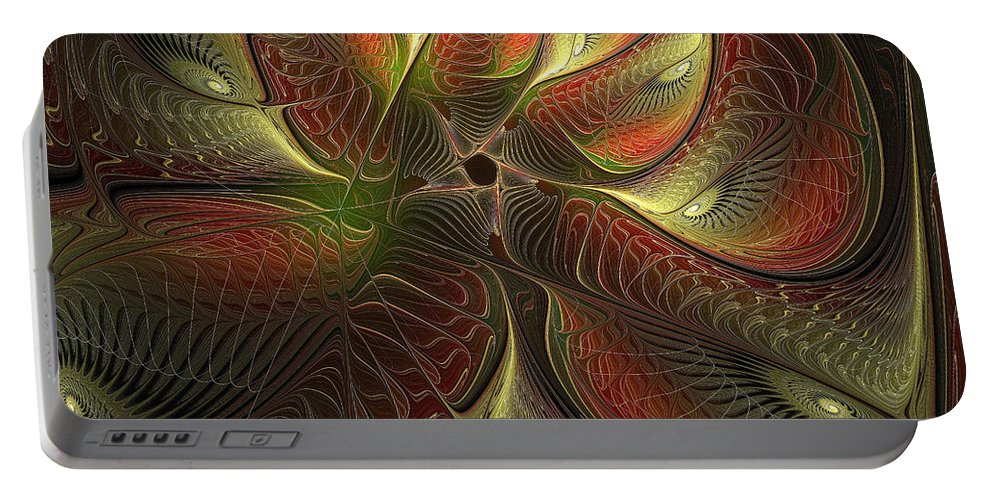 Digital Art Portable Battery Charger featuring the digital art Watchful by Amanda Moore