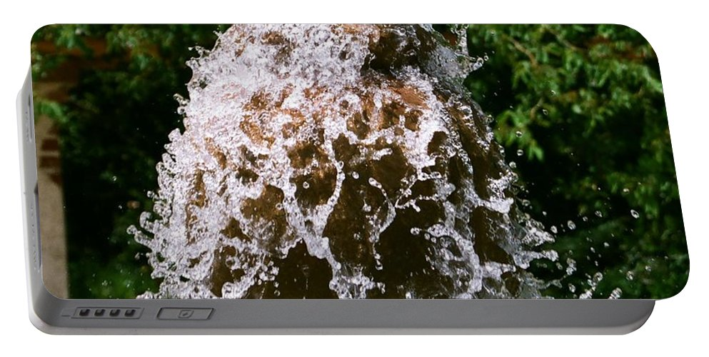 Water Portable Battery Charger featuring the photograph Water Fountain by Dean Triolo