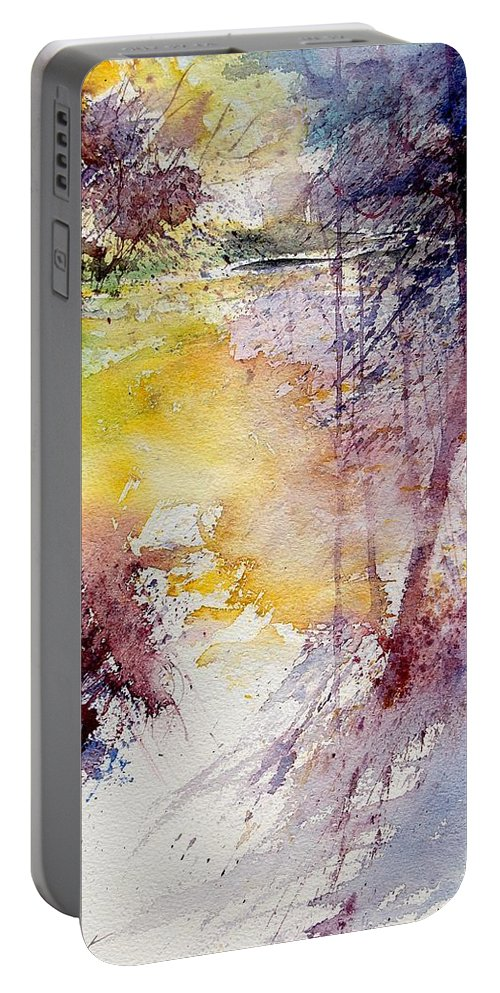 River Portable Battery Charger featuring the painting Watercolor 040908 by Pol Ledent