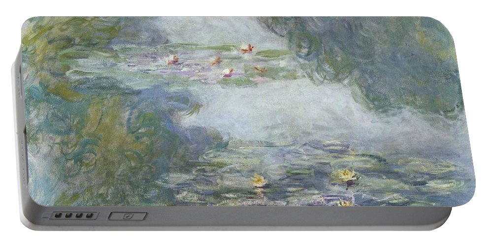 Pads Portable Battery Charger featuring the painting Waterlilies by Claude Monet