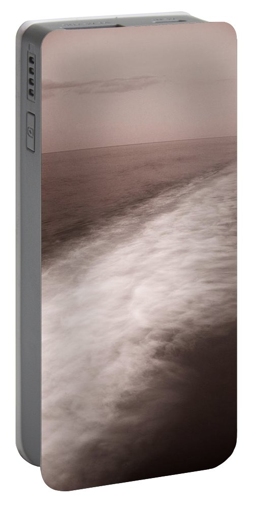 Abstract Portable Battery Charger featuring the photograph Wave Form by Steve Gadomski