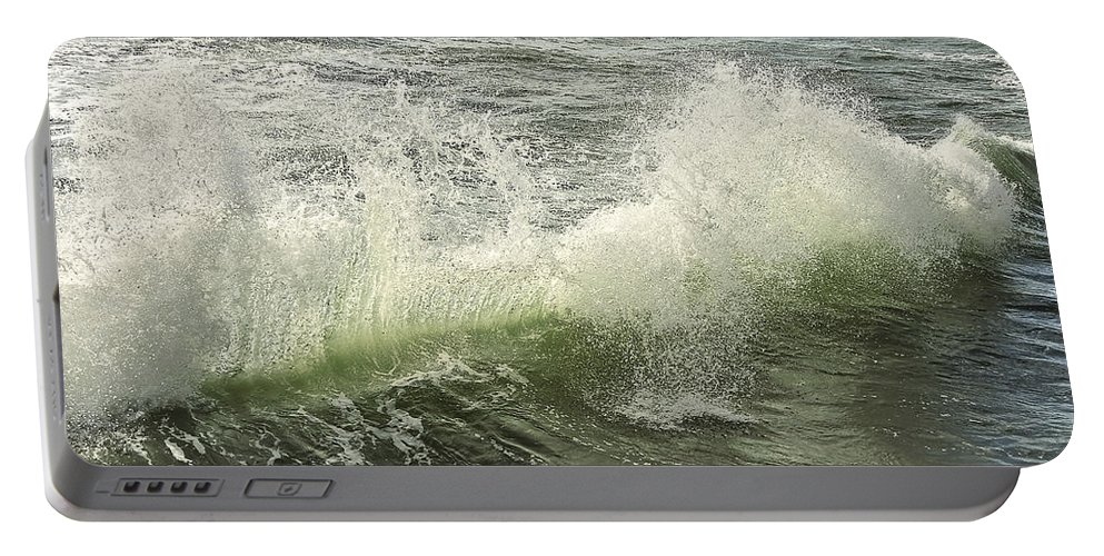 Aqua Portable Battery Charger featuring the photograph Waves by Svetlana Sewell