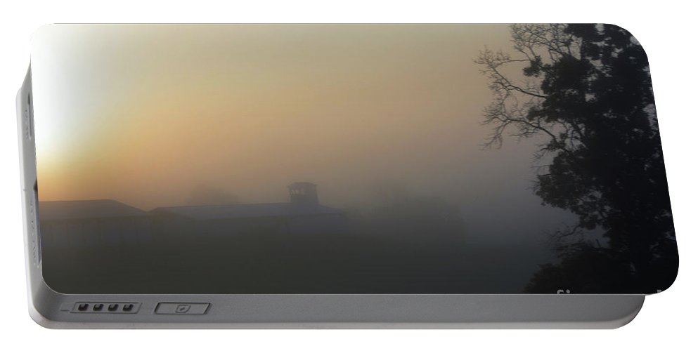 West Virginia Portable Battery Charger featuring the photograph West Virginia Foggy Sunrise by Maggie Cersosimo