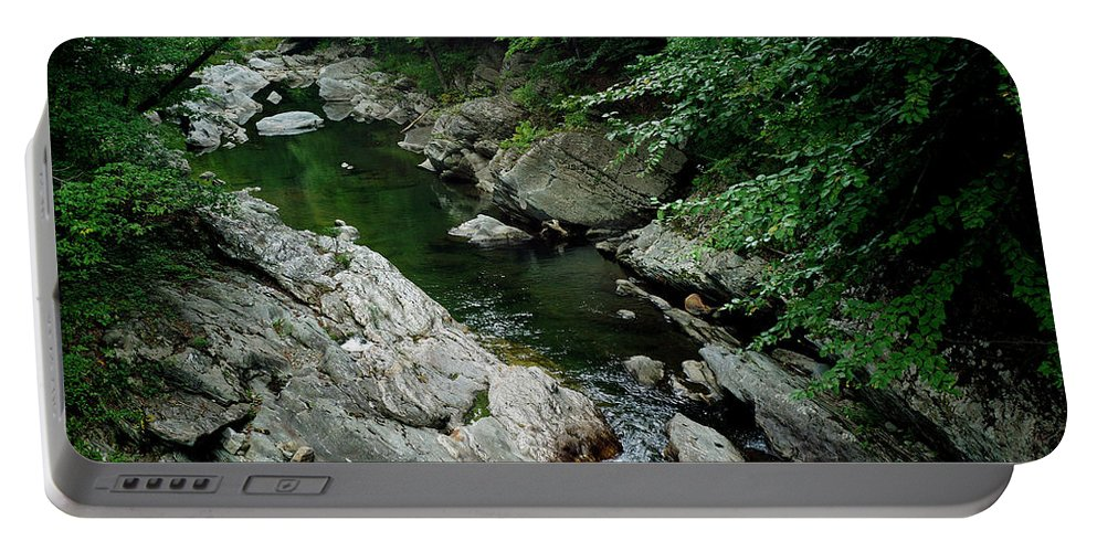 River Portable Battery Charger featuring the photograph Mad River by Bill Morgenstern