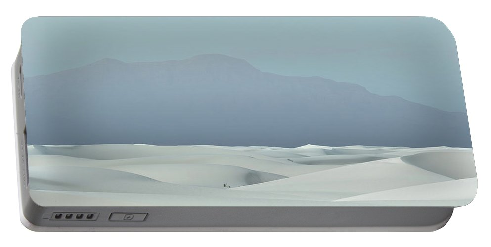 White Sands Portable Battery Charger featuring the photograph White Sands by David Diaz