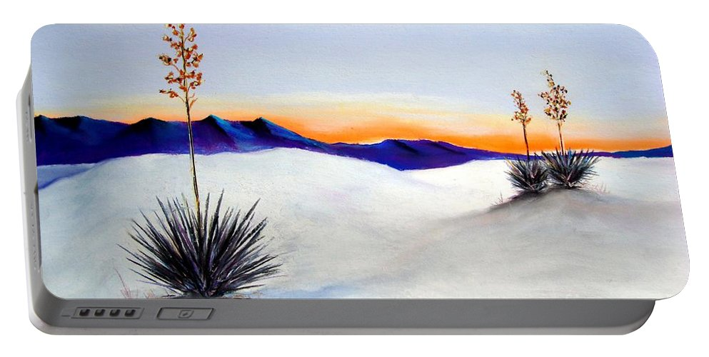 White Sands Portable Battery Charger featuring the painting White Sands by Melinda Etzold