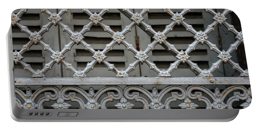 Window Portable Battery Charger featuring the photograph Window Grill In Toulouse by Elena Elisseeva