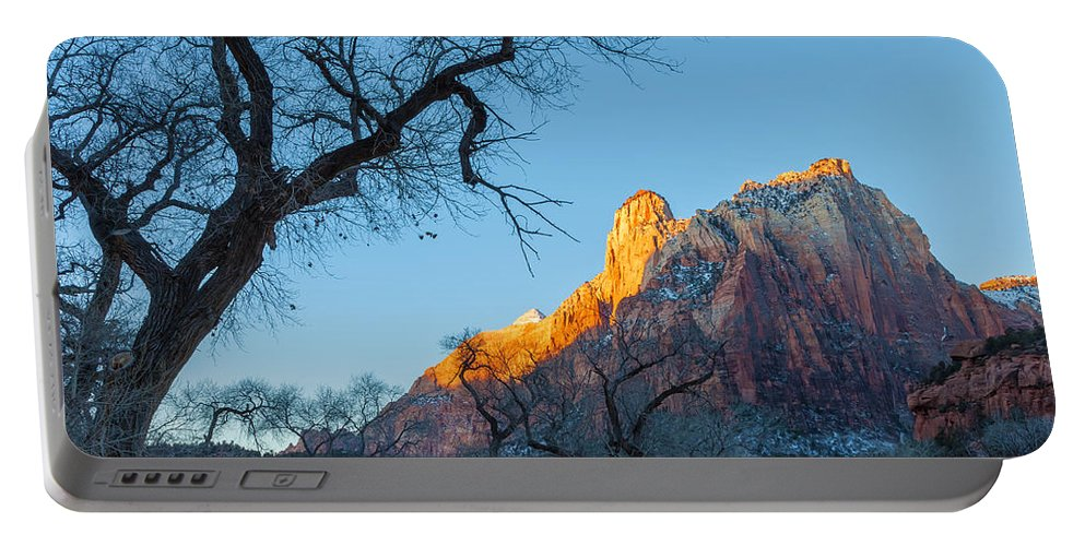 Landscape Portable Battery Charger featuring the photograph Winter Light by Jonathan Nguyen
