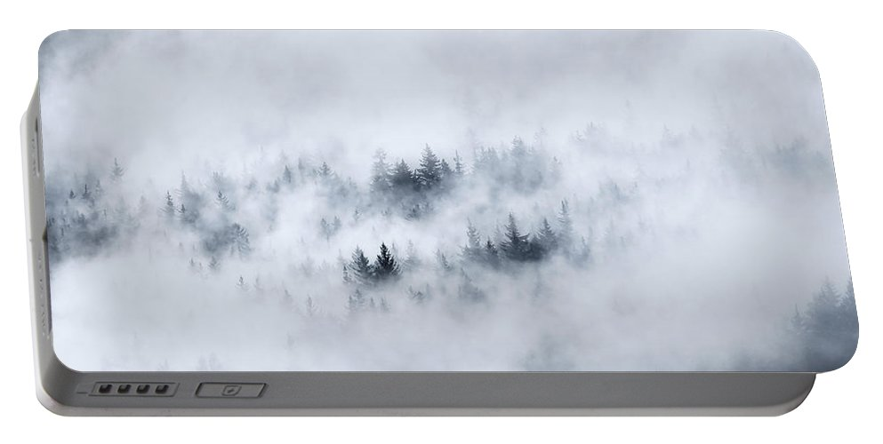 Fog Portable Battery Charger featuring the photograph Winter Dawning by Mike Dawson