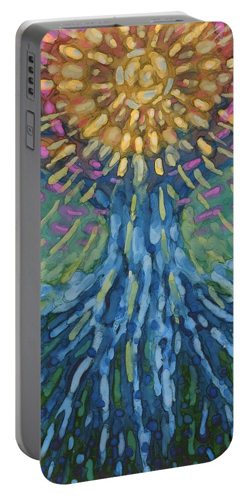 Colour Portable Battery Charger featuring the painting Without You by Wojtek Kowalski