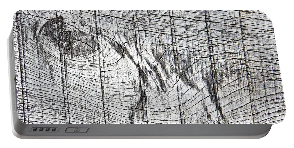 Abstract Portable Battery Charger featuring the photograph Wood Detail by Tom Gowanlock